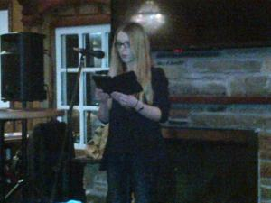 Marissa Campbell takes up shield and Viking helmet with stirring read from her debut novel Avelynn.