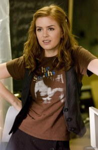 The lovely, talented and highly comedic Isla Fisher is the author's dream casting choice for quirky Leslie.