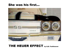 The Heuer Effect Teaser Ad