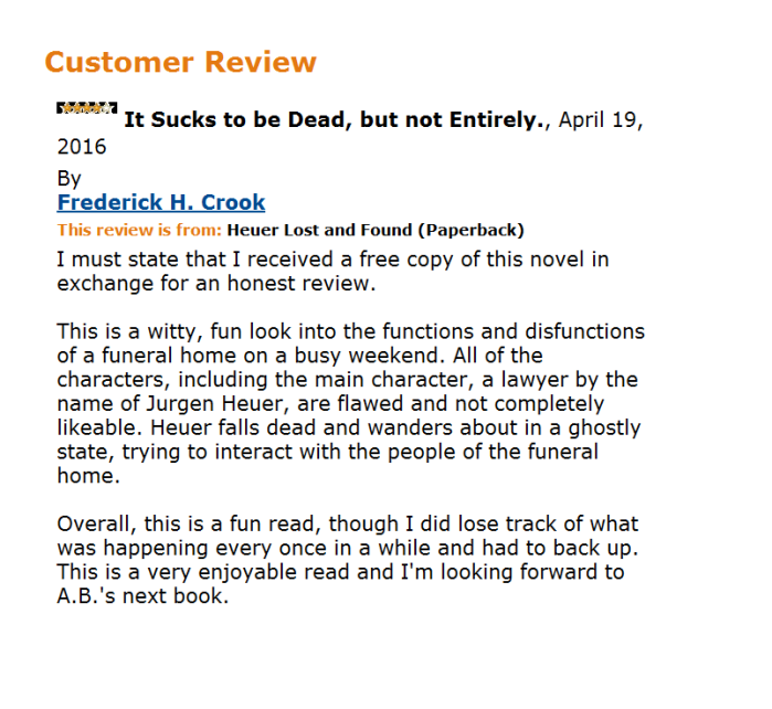 CROOK REVIEW