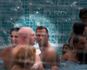 Arod Yes that is the Yankees superstar Alex Rodriguez. He took offense at my photographing him with his bodyguard in the pool at a Tampa hotel where we went to see the Yanks play the Rays. Wish I was that famous. He saw me standing at the edge of the pool, tele lens in hand and got real angry.
