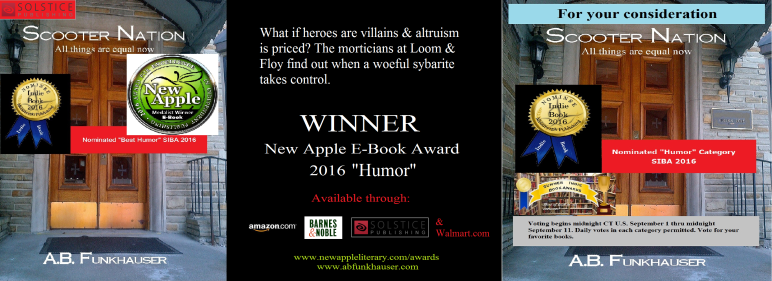 Adult contemporary fiction a b funkhauser author by now many visitors to the blog have read that i won the 2016 new apple e book award for humor and horror through new apple literary its an important fandeluxe Choice Image
